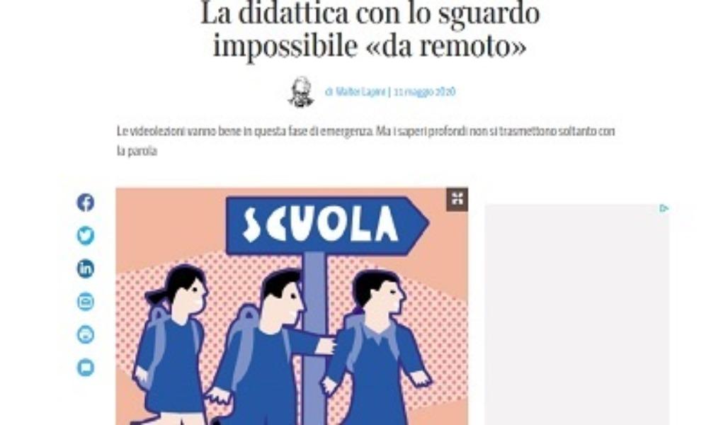 Articolo Corriere della Sera Didattica a Distanza