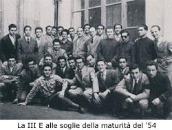 La classe III E del 1953-54